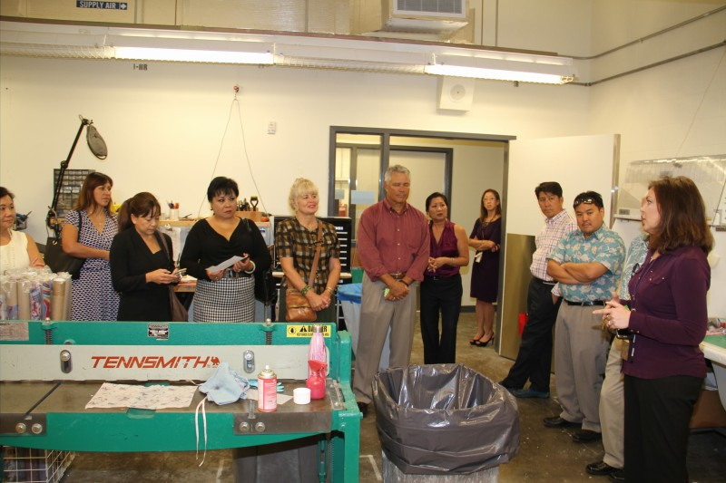 HSBP members tour the Shidler facility.