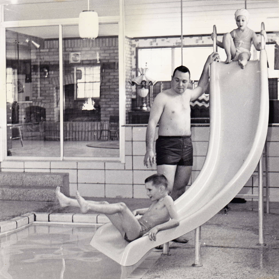 The Kitson Builder's indoor swimming pool! A home feature ahead of it's time.