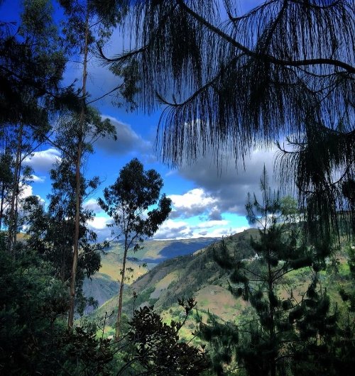 "View of the ""Jadan"" mountains in Ecuador. Jadan means ""close to heaven""."