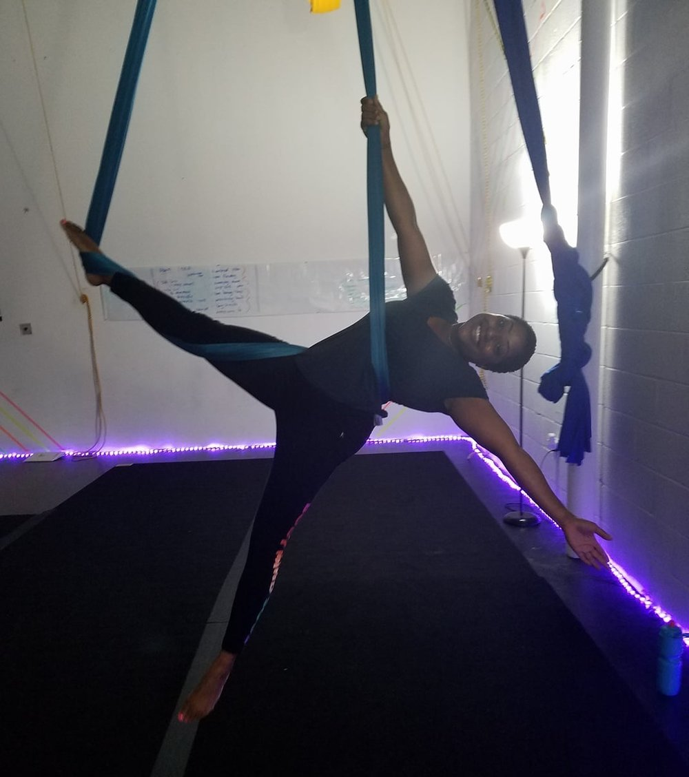 Aerial Hammock - Tuesday & Thursday:7:15-8pm Adv. Beginner8-8:45pm Beginner