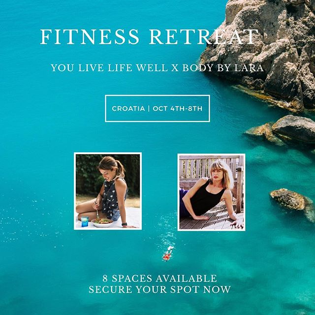 FITNESS RETREAT  I'm excited to announce that myself and @bodybylara are launching our 5 day fitness retreat in beautiful Croatia this October! • Take 5 days off to reboot, rethink how you exercise and learn new ideas on how you eat💪🥑 • I will get you sweaty with HIIT workouts, metabolic circuits & picturesque runs on the beach whilst Lara will get you trimmed and sculpted with her signature burn, sculpt and Pilates sessions. • WHEN: 4th-8th October 2018 WHERE: Luxury White Villa in Split, Croatia  8 spaces available | Secure your spot now • Link in bio for more information 📲 You Live Life Well X Body By Lara • #fitnessretreat #nutrition #pilates #sculpt #croatia #wellness #wellnessretreat #instafit #fitnessblogger #instafitness #relaxation #fitnessholiday #healthylifestyle #personaltrainer