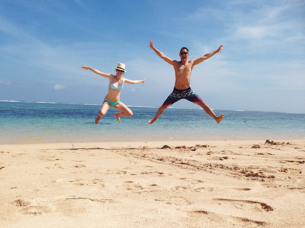 Matrix-ing it up on the beach in Bali!