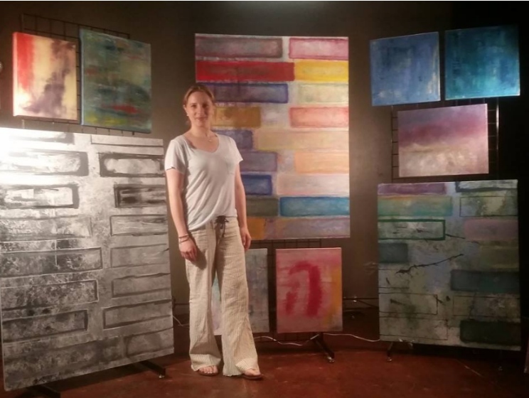 "Artist Erika Rachel  and the ""Compatibility Series""  at the Conception Contemporary Art Fair"