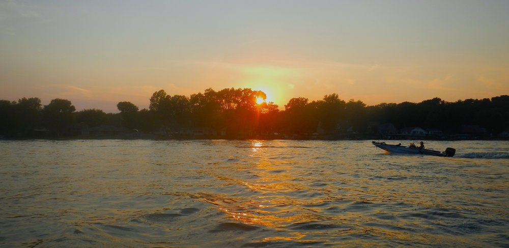 A picture of Lake Freeman from lakefreemanlife.com --- the very lake I grew up on --- my idea of peaceful.