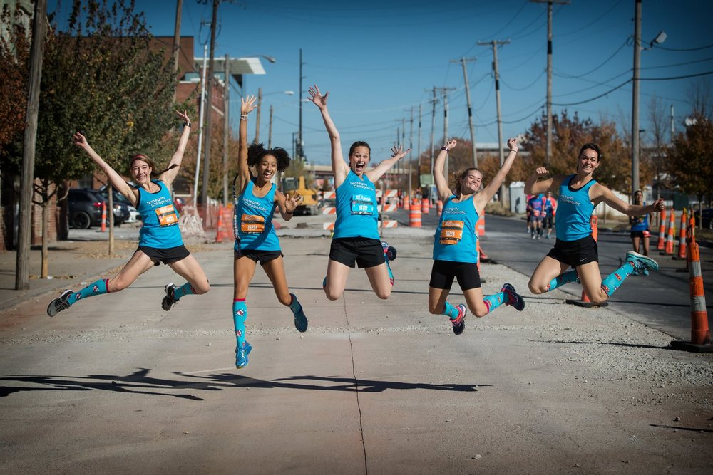BY FAR the best part of running the Route66 race was getting to be a part of this relay team :) Thanks to Dr. Chris Barnes for this sweet jumping picture!