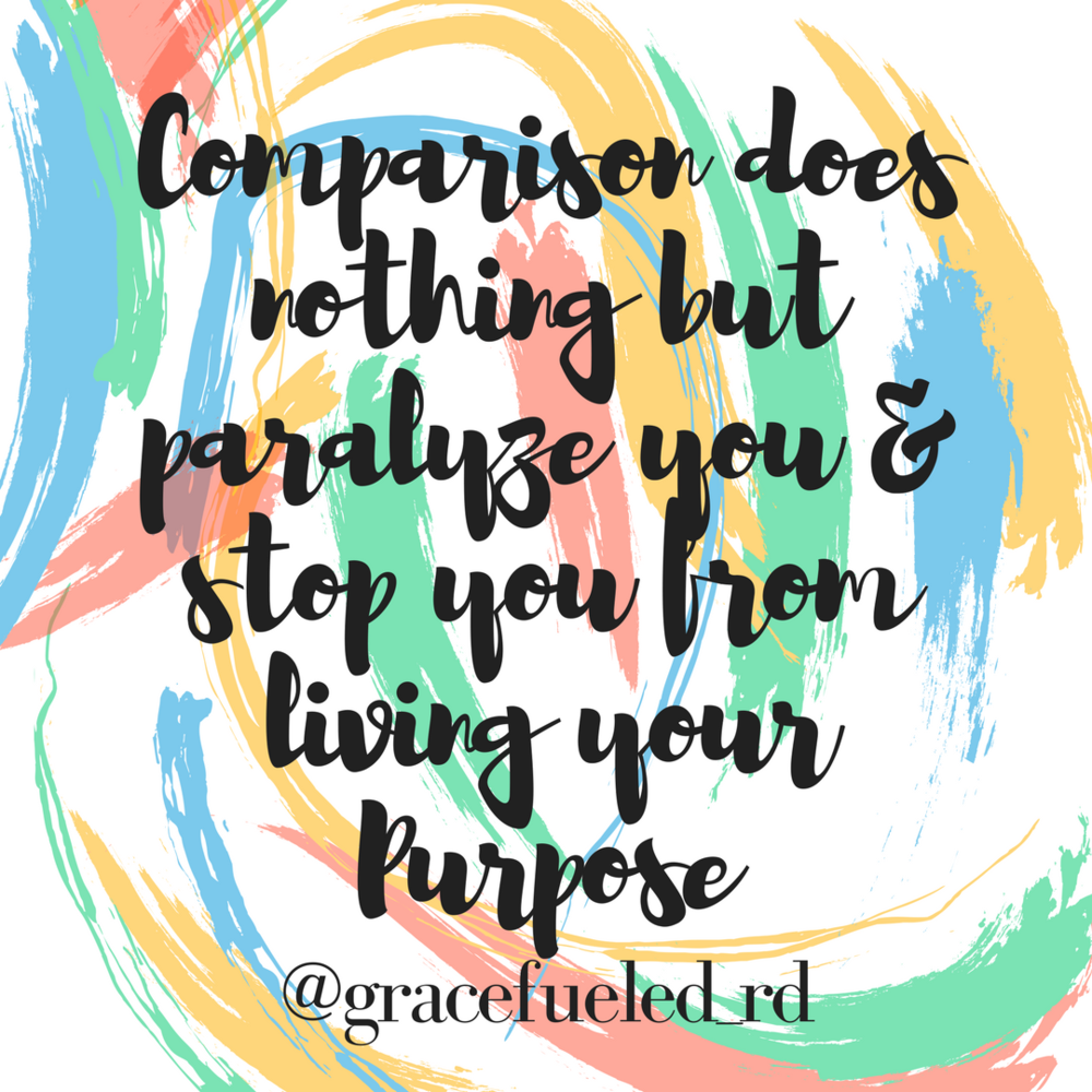 Comparison does nothing but paralyze you & stop you from living your 
