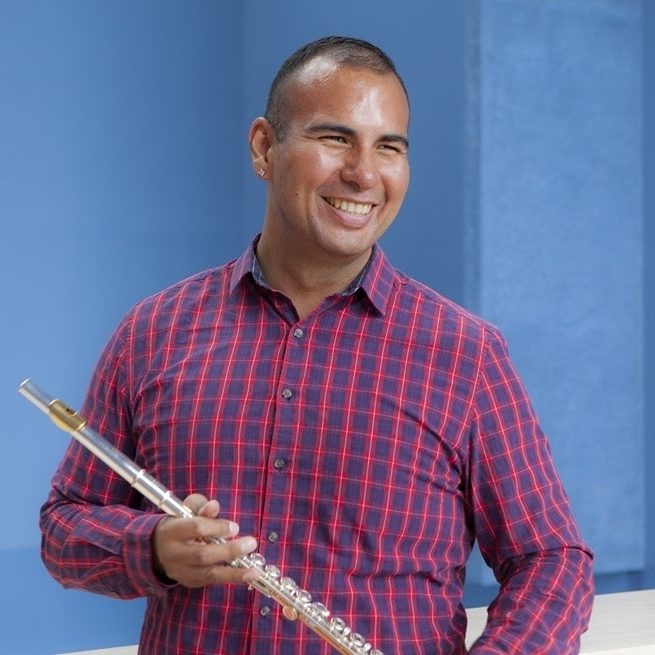 FLUTES:    Arturo Rodriguez     Arturo Rodriguez has been a part of the AOC team since 2014. He is a passionate and ambitious flutist, composer, and overall flute enthusiast! He graduated from University of the Pacific Conservatory of Music in 2013 and has participated in a variety of musical ensembles across the Bay Area. He is also the co-founder of two LGBTQIA-based classical ensembles.