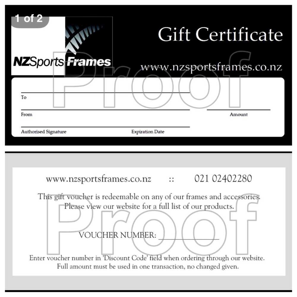 Products — NZ Sports Frames