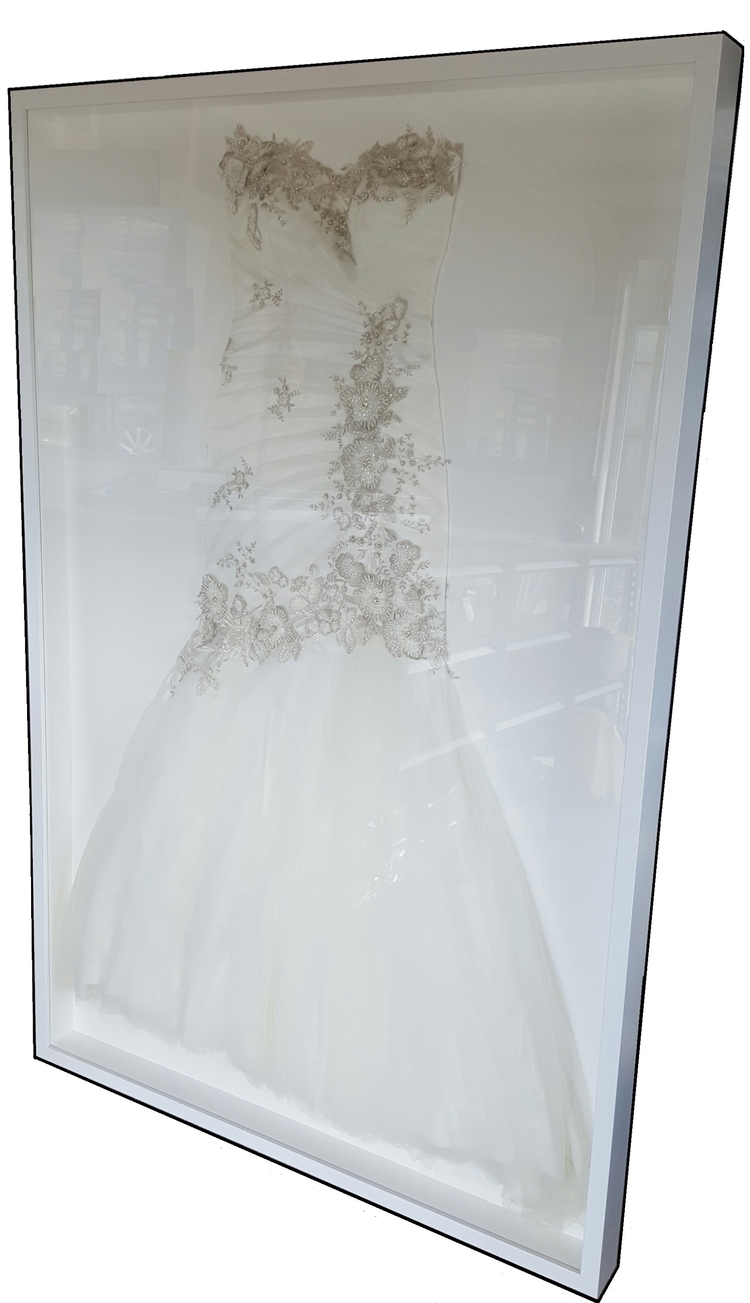 Wedding Dress Frame — NZ Sports Frames