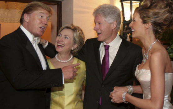 Trump and Clinton in happier times.....