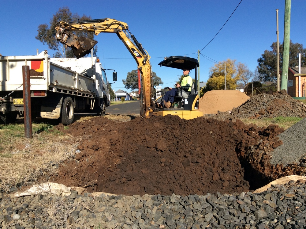 Raingarden excavation begins