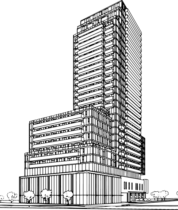 Line Drawing Buildings : Whitehaus condos — sammy ijaz