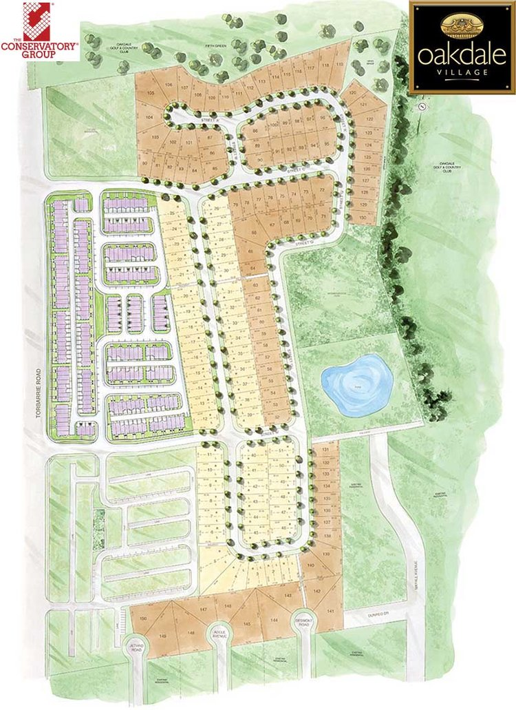 Oakdale Village Homes Siteplan 800x1100