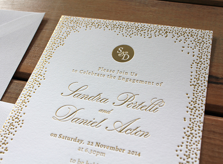 Gold Confetti Engagement {Foil}
