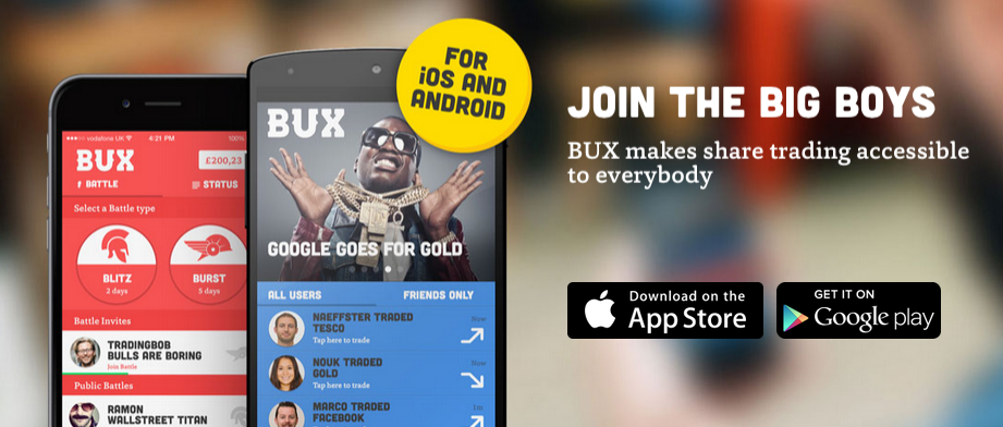 BUX App, which makes stock trading easy for anyone.