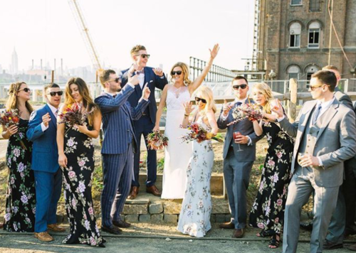 Custom Bamboo Sunglasses, Brooklyn Wedding June 2016