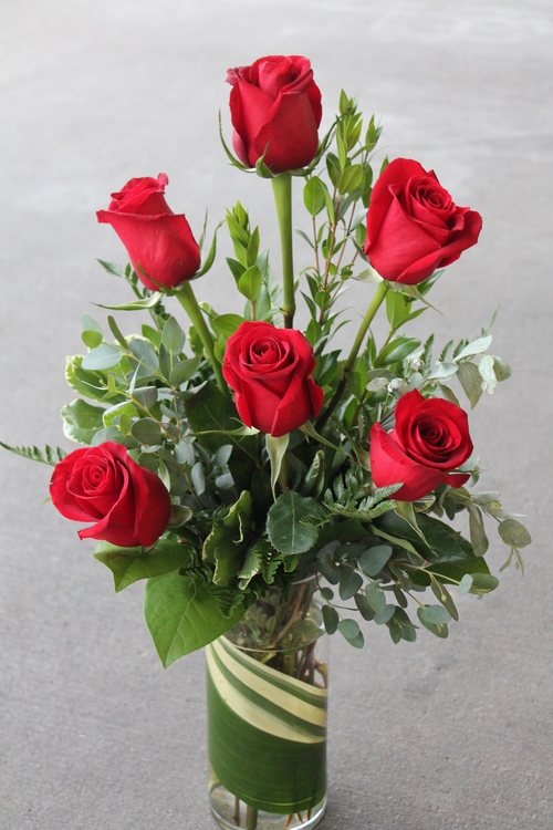 half dozen roses columbia city bouquet