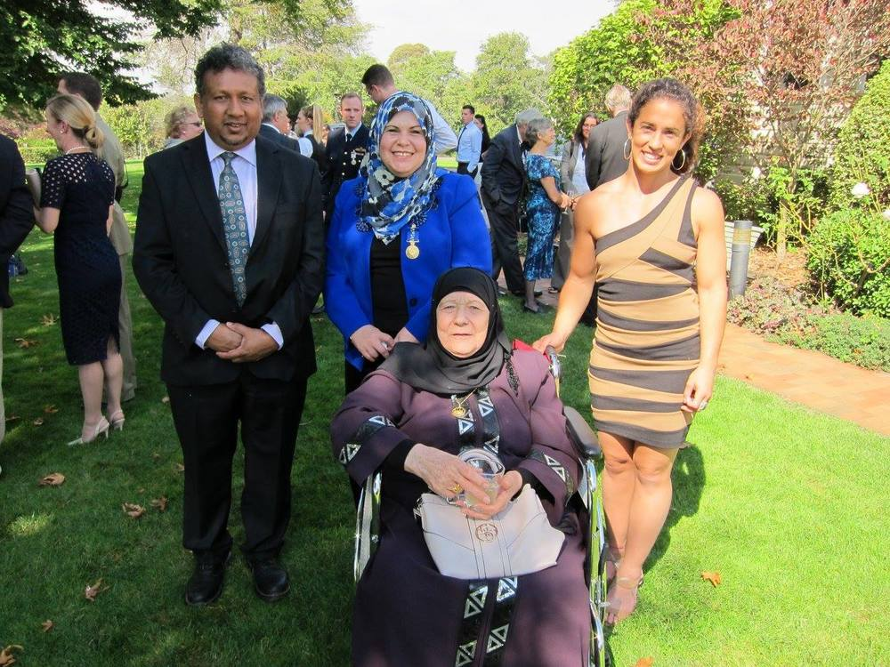Bianca's mum, Diana Abdel-Rahman, is awarded the Order of Australia for her tireless community work.