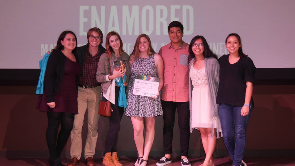 "Enamored - Cast and Crew (left to right) Graciella ""Chela"" Regua, Matthew Gibson, Ashlyn Savidge, Chelsea Best, Jonathan Verdugo, Wing-Yiu Cheung, Emily Kaiserauer (not pictured- Kimberly Weinberger)."