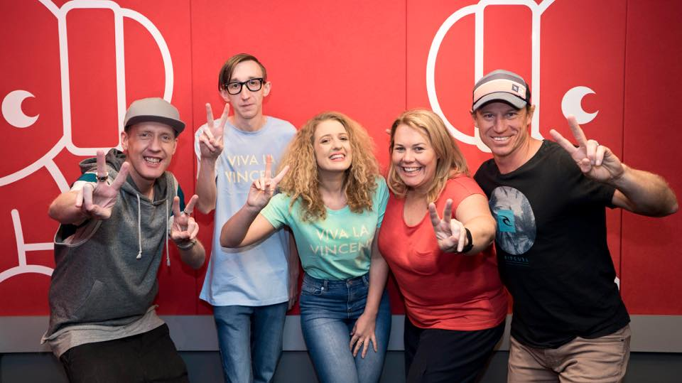 Ash and Tom with the Nova 937 team