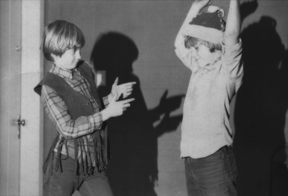 Duane Andersen and Josiah Polhemus in an early film circa 1977.