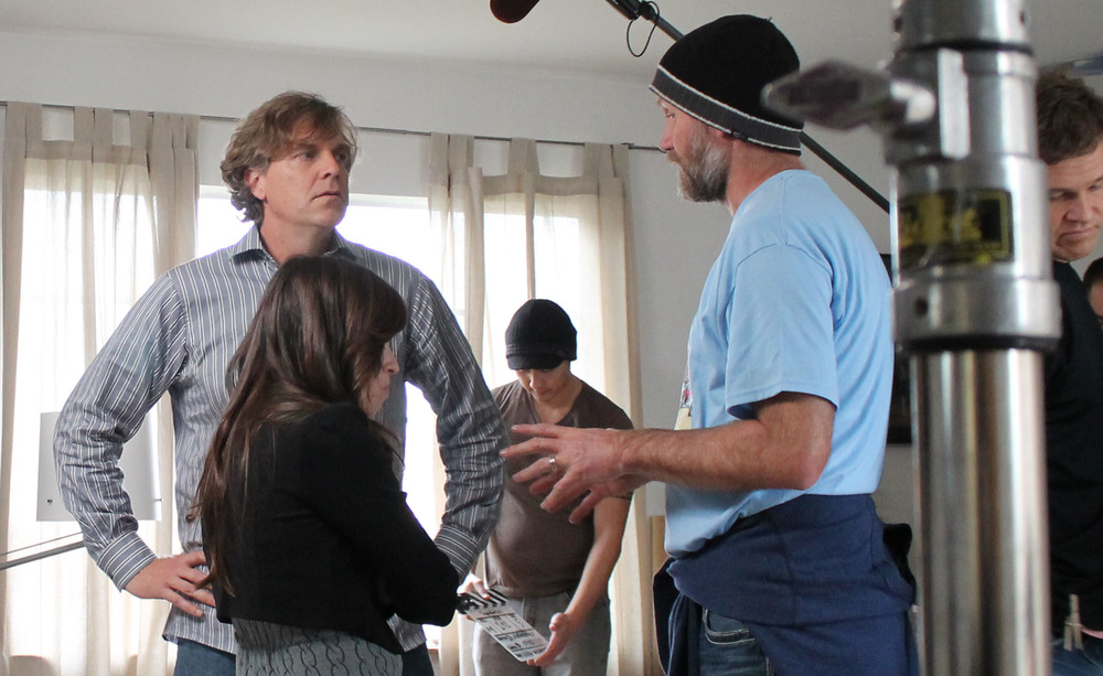 Behind the Scenes - Josiah Polhemus and Director Duane Andersen.