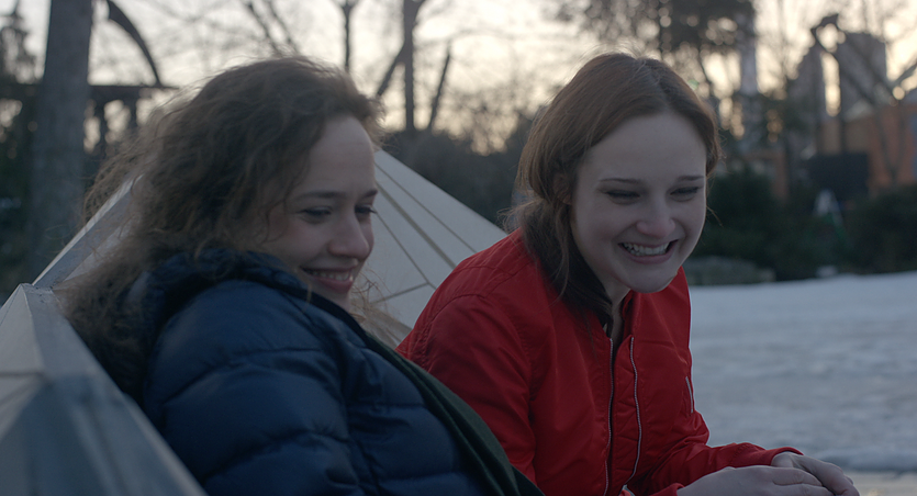 Beautiful Dreamer - Amy (Natalie Smith) and Mom (Jo Armeniox) meet in a NYC park, February 17, 2087