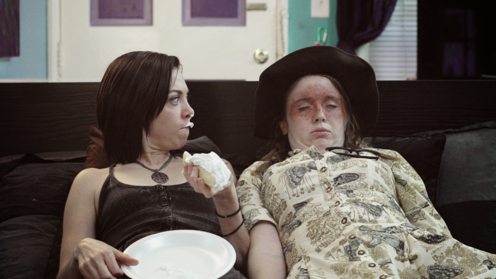 Janice (Natalie Palamides) and Alicia (Alison Lani) regroup post-audition disaster.