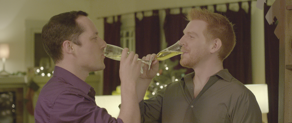 SHARED ROOMS - NYE toast: Christopher Grant Pearson and Alec Manley Wilson star in SHARED ROOMS.
