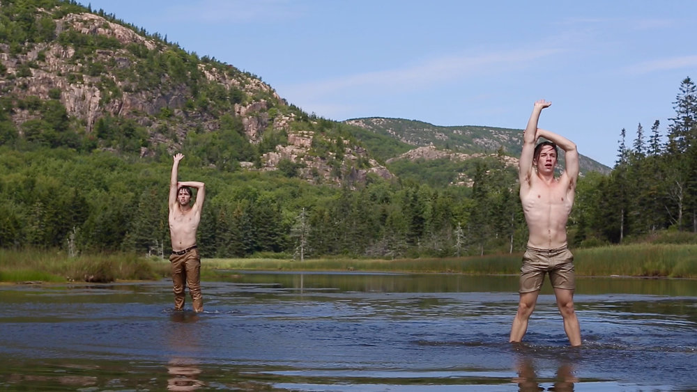 The Weight - Two men find their paths meeting in a river and dance together in a moment of connection and release.
