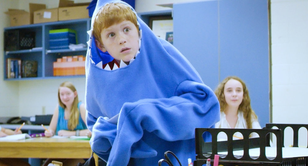 Shark Attack - Aaron has to present first – scary!