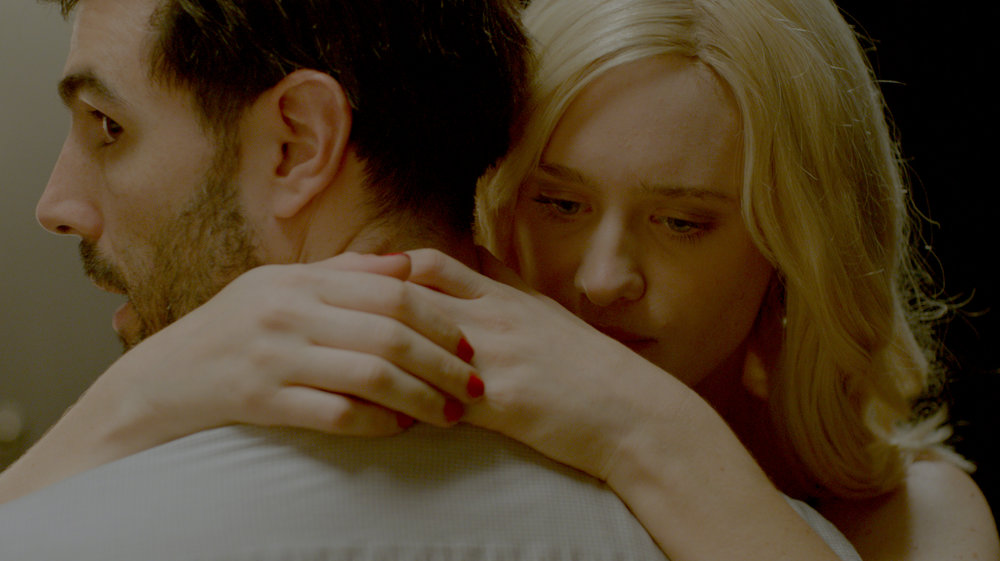 Mackenzie Davis and Louis Cancelmi in Memory Box.
