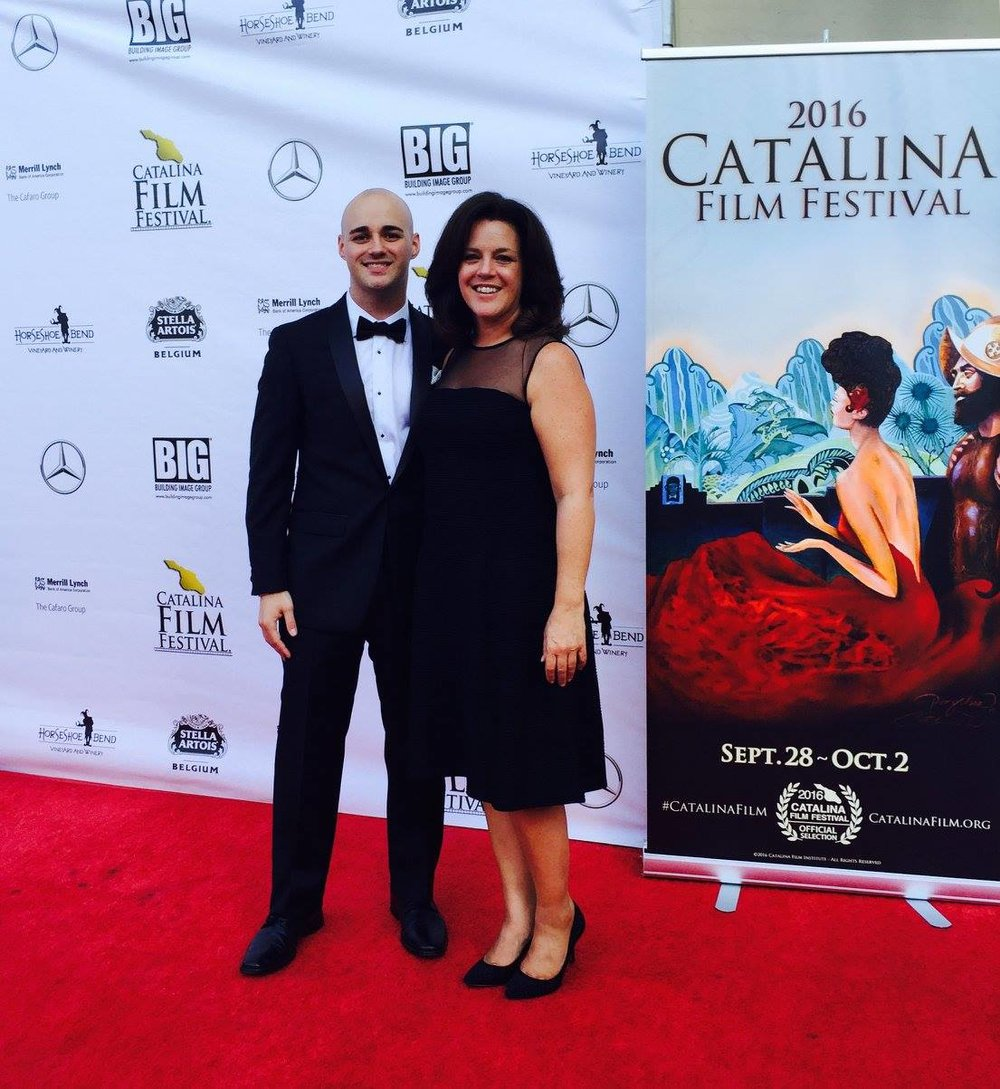 """LeDonne and his mother walk the red carpet two years after his choice to Hang On and becomes the ""Best Animated Short"" of the 2016 Catalina Film Festival""."