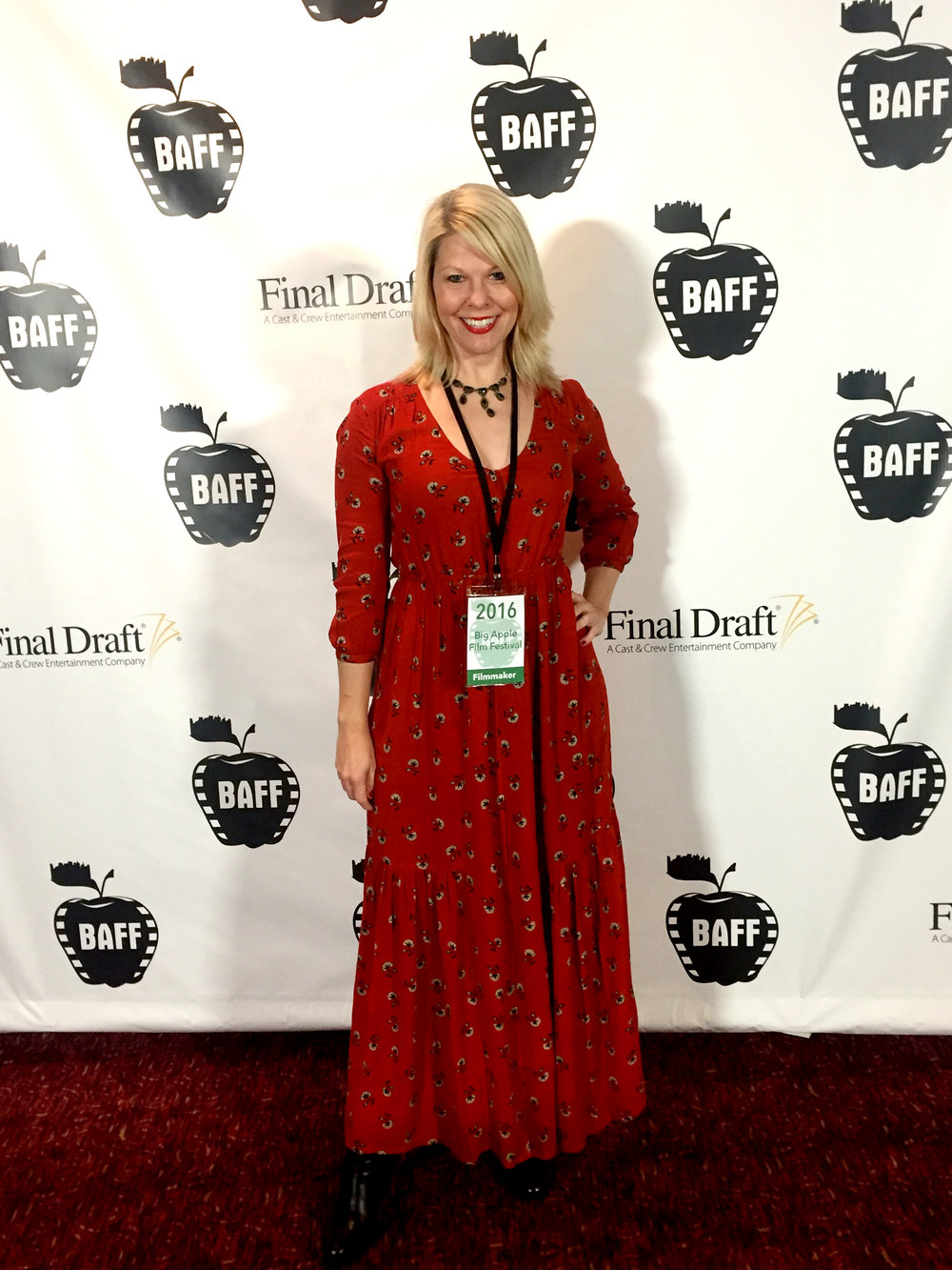 The Hoosac Writer/Director Matilda Szydagis at Big Apple Film Festival Red Carpet.
