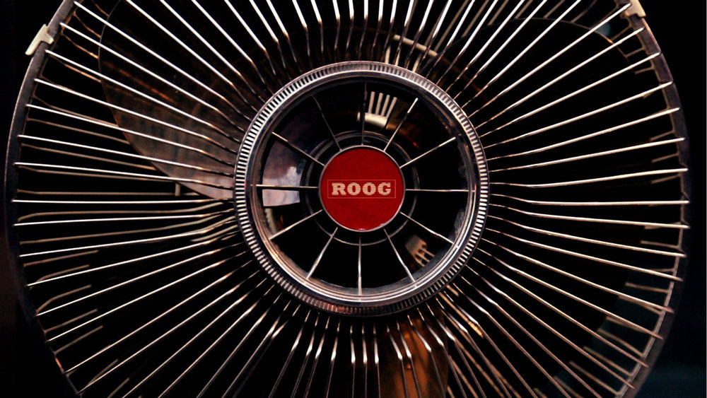 "One-minded - A close-up on One-minded's main point-of-view character. The made-up brand ""Roog"" is a reference to a Philip K. Dick's short story with the same title, which was influential during the script-writing stage."
