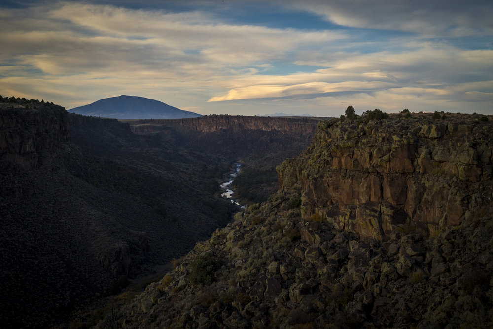 Avanyu - A sunset view of the Rio Grande in northern New Mexico. (c) Dana Romanoff/NPX