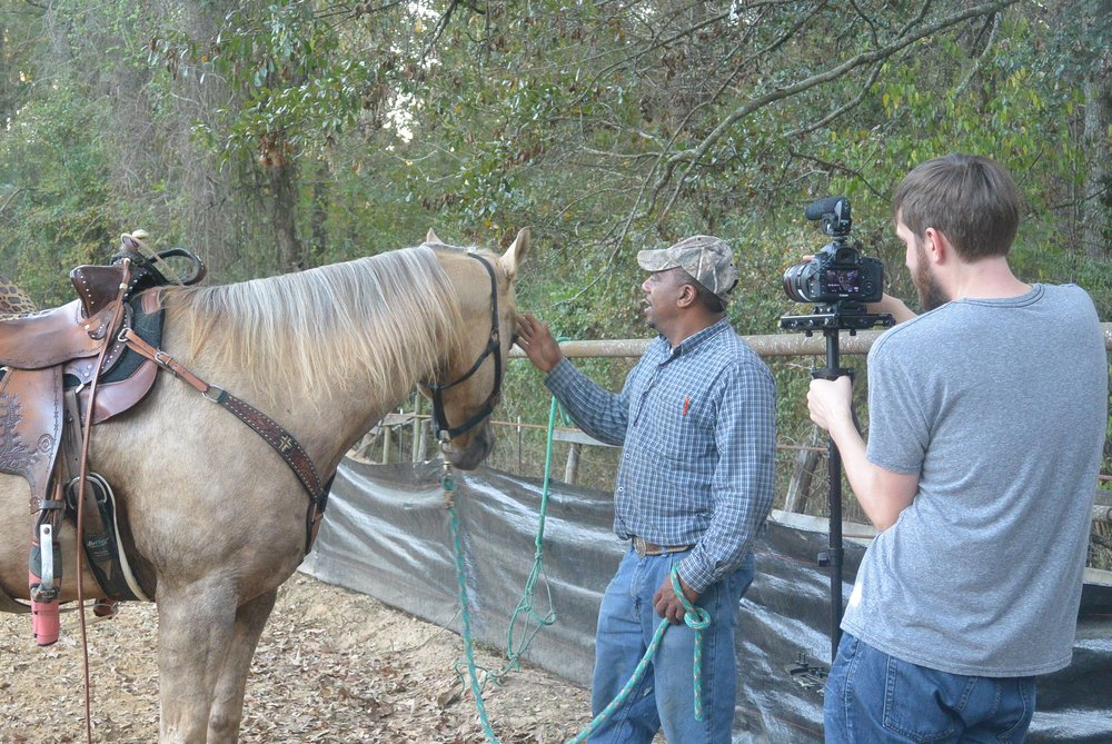 Cowgirl Up - Filmmaker Nathan Willis interviews Barrel Racer LaBrelah Hutchins's father at their family farm in Natchez, Mississippi.