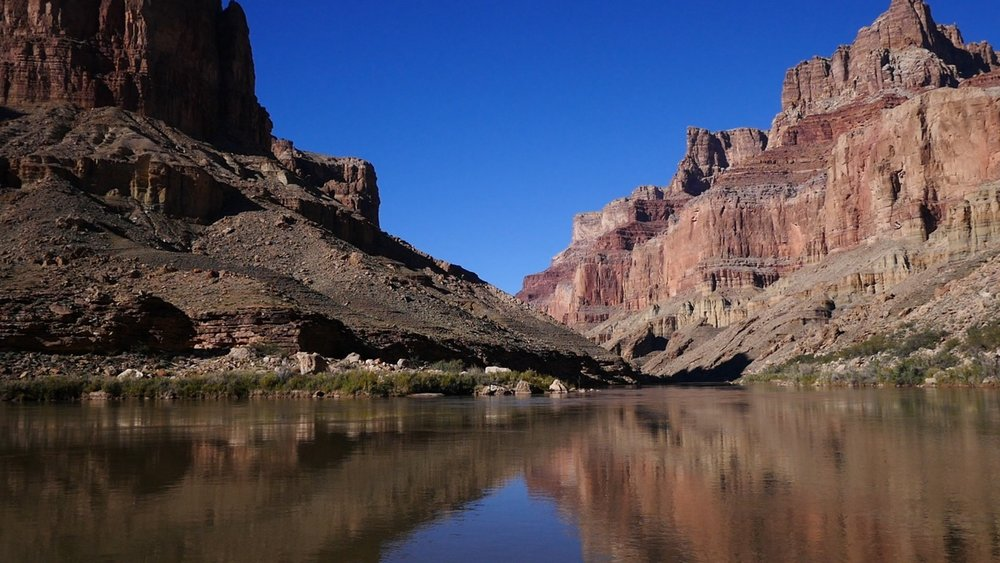 The Confluence - The Colorado River near where it meets the Little Colorado River on Navajo land in the Grand Canyon.