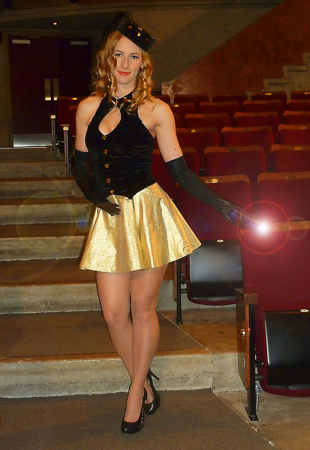 Actress Kristin Brown as the Usherette taking the audience into the nostalgic journey into the world of rapidly disappearing heritage movie palaces of history.