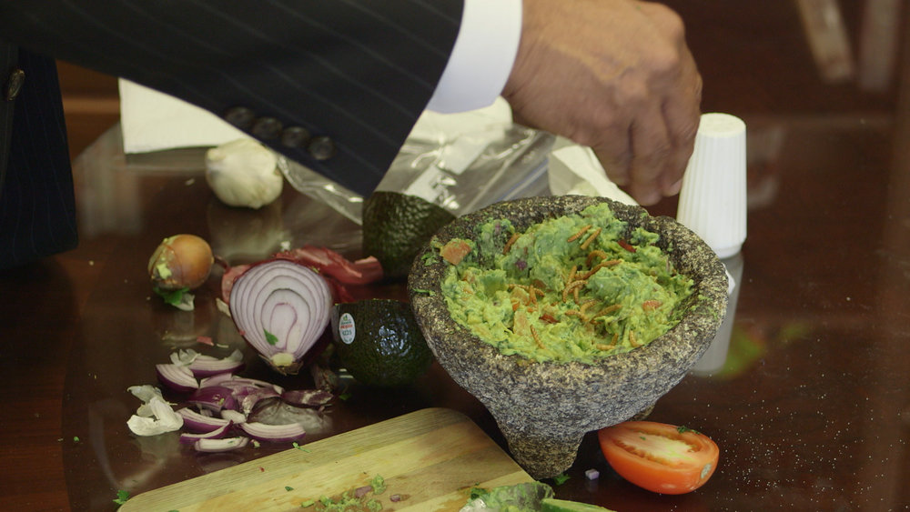 The Gateway Bug - USDA NIFA director Dr Sonny Ramaswamy makes Mealworms in Guac.