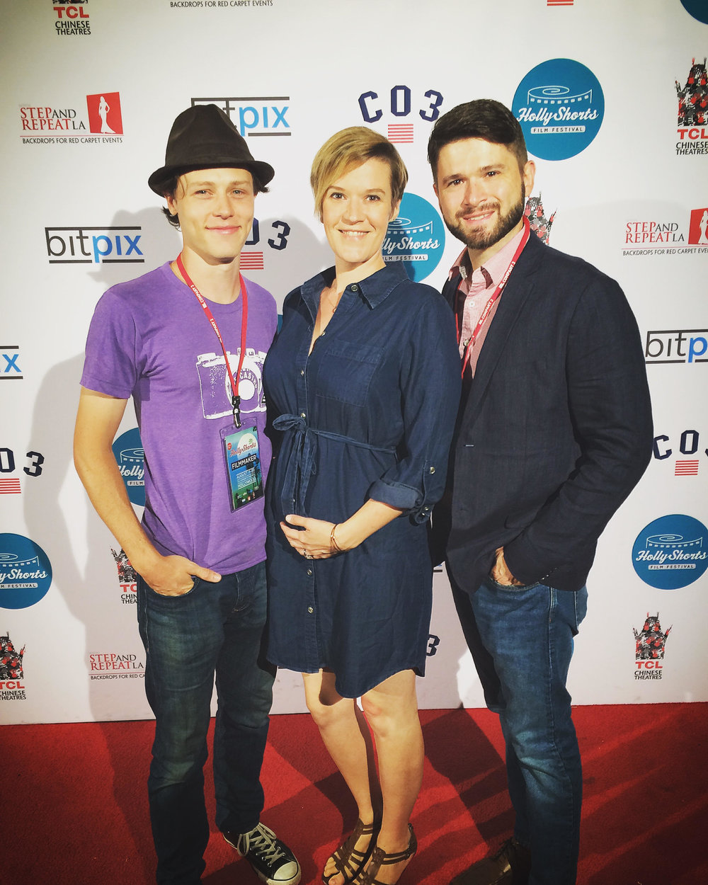 "Nick Eversman, Rebekah Tripp, Cameron Thrower at Hollyshorts Film Festival at Grauman's Chinese Theatre in Hollywood, CA premiere ""Pretty Boy""."