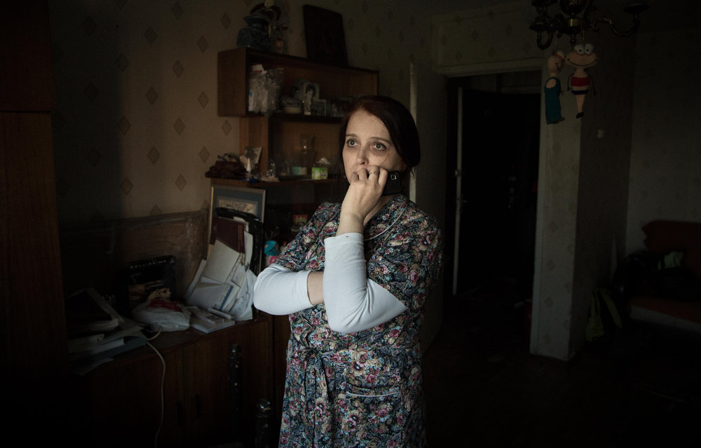 Odd One Out - Grey Violet's mother Svetlana at her home in Moscow.