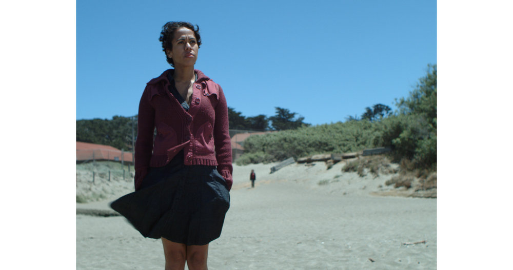 Entropy - Monica (Anny Rosario) waits at Baker Beach as Nicole (Nicole Harbeck) approaches.