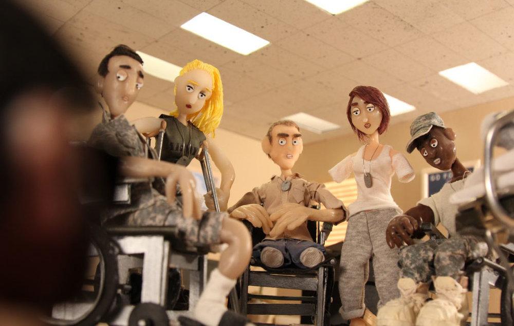 G.I. Hospital - The gang looks askance at Matt, who is suddenly seeming unpatriotic.