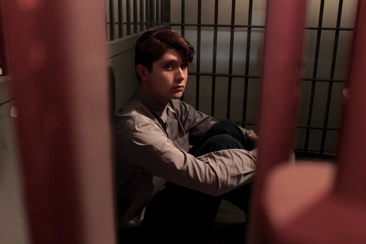 The Meanest Man In Texas - Clyde Thompson imprisoned in 1932, played by Mateus Ward. Photo courtesy of @themeanestmanintexas