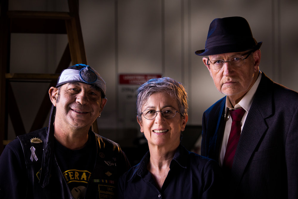 Exit Wounds - Writer/Director/Producer Pattie Collins at centre - stills photographer, Ian Marshall
