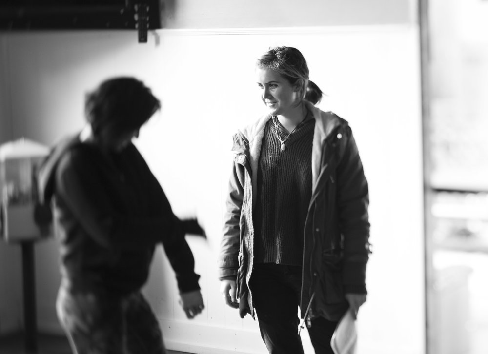 The Shadow Boxer - Director Phoebe Nell Williams on set. Photo credit: Kaz Ceh