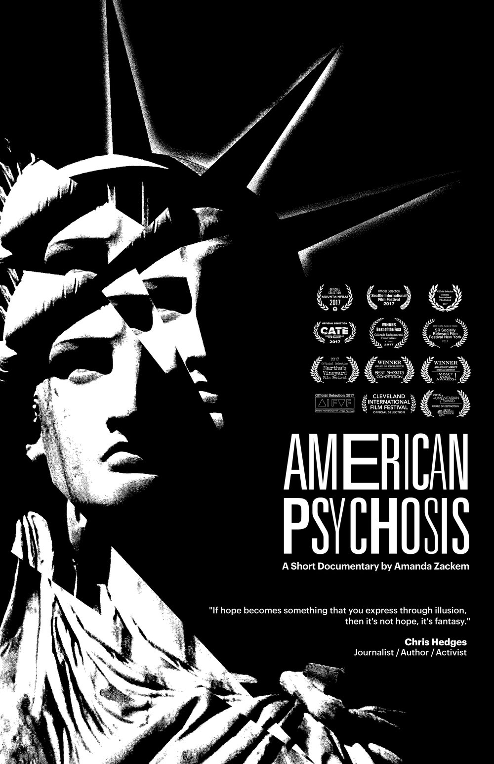 American Psychosis - Poster credit:  http://solidarityofunbridledlabour.com/