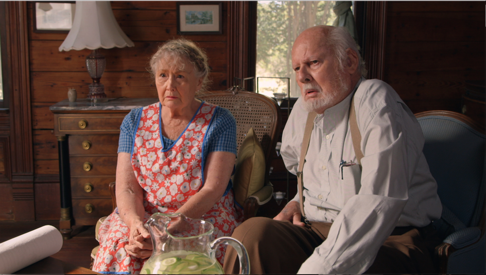 Quaker Oaths - Real life married couple Juli Erickson and Grant James have been over two hundred films combined. In Quaker Oaths they play skeptical relatives, Aunt Milly and Uncle Tommy.