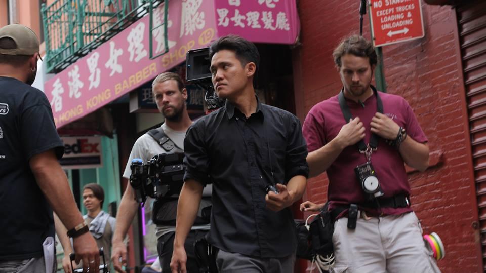I Love New York - TOP: Director Christian Vogeler directs Ewan Turner on the G train. BELOW: Cinematographer Justin Ivan Hong